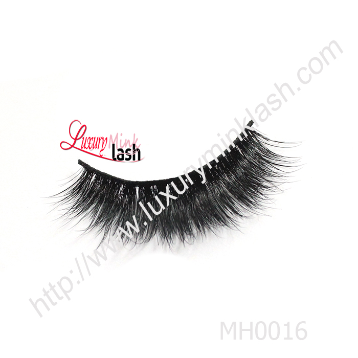 Wholesale Thick 100% fur material horse hair lashes